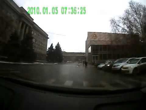ДТП с участием автомобиля ДПС 03 12 2013 Оренбург