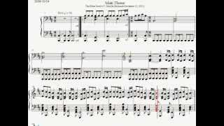 Skyrim Main Theme Piano Sheet Music The Elder Scrolls TES V VideoMp4Mp3.Com