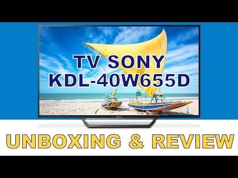 TV SONY KDL-40W655D   Unboxing e Review - PT-BR