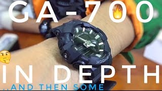 IN DEPTH REVIEW for CASIO G-SHOCK GA-700-1BJF ALL BLACK | and then some..