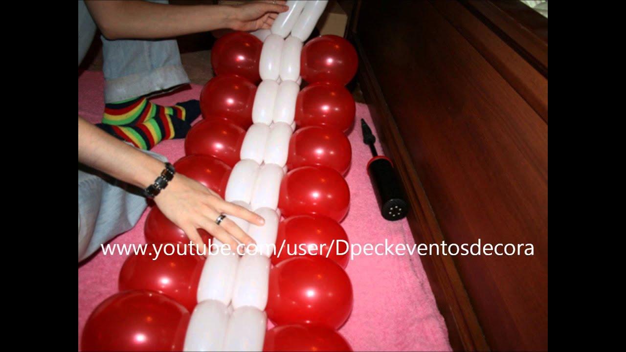Como hacer un centro de mesa con globos redondos y 260 - Como hacer centro de mesa ...