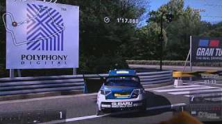 |TGS 09|Gran Turismo 5 Gameplay Subaru Car Damage (Off-Screen)PS3