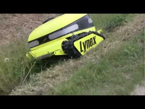 slope mower with slasher. remote controlled