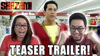 SHAZAM! OFFICIAL TEASER TRAILER REACTION & REVIEW