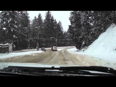 Drive Parmenter Road at Cultus Lake, BC to Vedder Bridge in a Snowstorm.