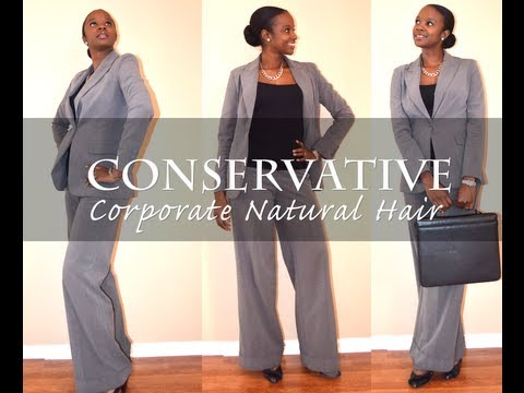Natural Hair Conservative Corporate Interview Style Nik
