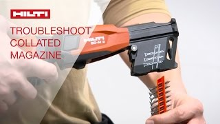 Hilti collated screw magazines SD-M 1 & 2 - Troubleshooting