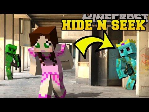 Minecraft: DIAMOND GOLEMS HIDE AND SEEK - Morph Hide And Seek - Modded Mini-Game