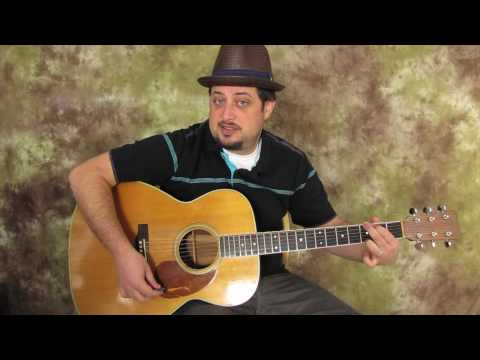 Queen - Crazy Little Thing Called Love - Easy Beginner Songs On Acoustic Guitar Lesson