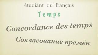 Урок французского языка. Согласование времен. Concordance des temps.