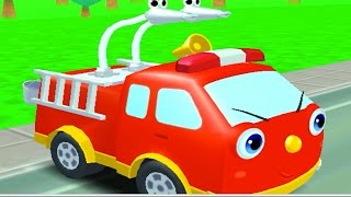 Пожарная машина для детей. Мультик про пожарную машину. Про пожарников. Игры пожарные машины.