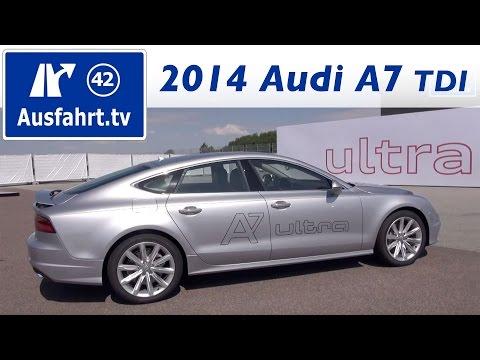 2014 Audi A7 3.0 TDI ultra - Fahrbericht der Probefahrt / Test / Review