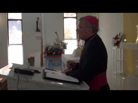 "Archbishop Timothy Costelloe, Bishop of Perth, Australia speaks on the Blessed Sacrament during the ""Day With Mary"" held at Our Lady Queen of Peace Parish in..."