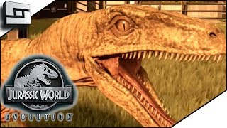 Jurassic World Evolution! Velociraptors! Clever Girl!