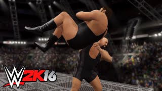 WWE-2K16 -Big Show vs André the Giant WWE United States Championship Match | Hell In A Cell Match