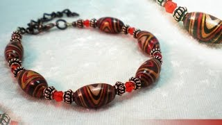 How To Make a Tribal Swirl Bead Bracelet