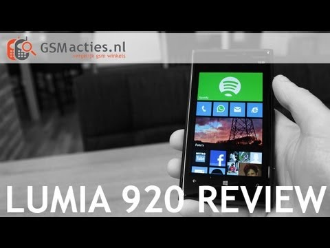 Nokia Lumia 920 Review (Nederlands) - GSMacties.nl