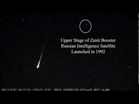 Skywatchers See Double Whammy: Meteor Break Up + Zenit Booster