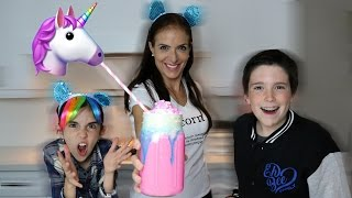 STARBUCKS UNICORN FRAPPUCCINO AT HOME!! - DIY