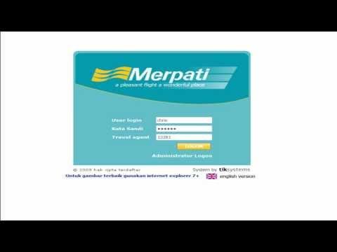 Cara Booking Tiket Merpati