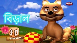 Download Cat Animal Rhyme in Bengali | বাংলা গান | Bengali Rhymes For Kids | 3D Animal Songs in Bengali 3Gp Mp4