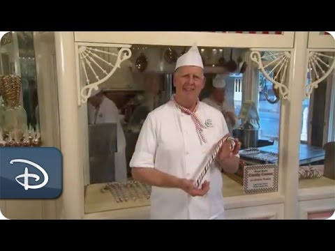 Making Holiday Candy Canes at Disneyland Park   Disney Parks