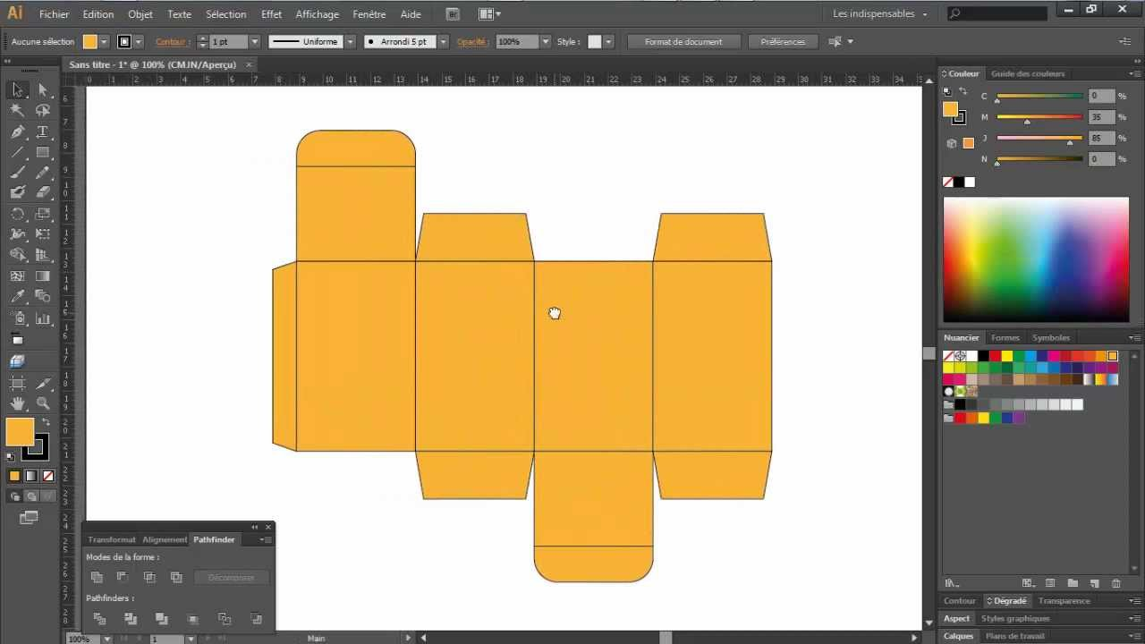 Paper Car Template >> Carton Packaging Design in 5 minutes - Adobe Illustrator - YouTube