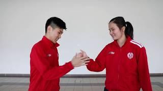 ASEAN Schools Games 2018 - Badminton pre-game routine