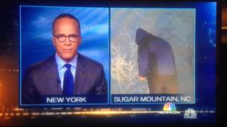 Mike Seidel caught peeing in woods live on NBC Nightly News with Lester Holt - 1st November 2014