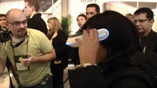 CES 2011_ Sony's futuristic 3D head-mounted display