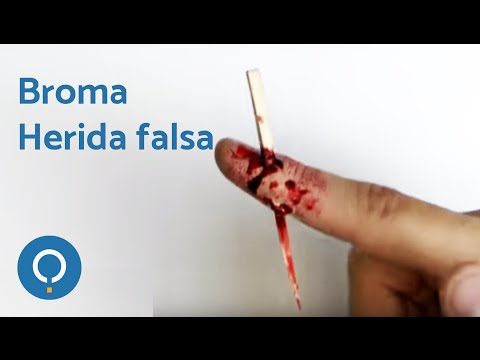 Broma original - Herida falsa con astilla