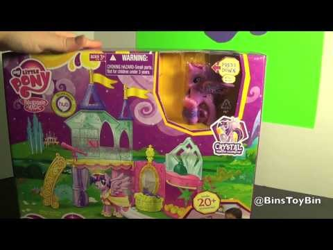 Twilight Sparkle Crystal Princess Palace Playset My Little Pony Review! by Bin's Toy Bin