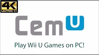 Cemu Wii U Emulator Tutorial (Play Wii U Games on PC!) 4K