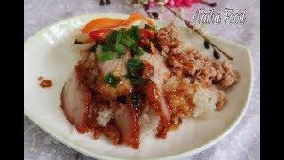 Bí quyết ướp thịt xá xíu chuẩn vị ăn kèm xôi mặn mềm dẻo || Sticky rice with char siu || Natha Food
