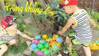 săn tìm trứng khủng long  trong những bụi cây cùng Tuấn Minh