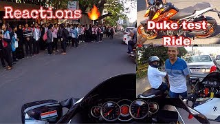 HAYABUSA REACTION:OBSERVATION || DUKE 390TEST RIDE