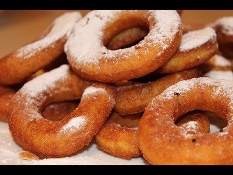 Как приготовить пончики из творога - видео