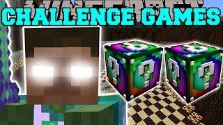 Minecraft: DELTA HEROBRINE CHALLENGE GAMES - Lucky Block Mod - Modded Mini-Game