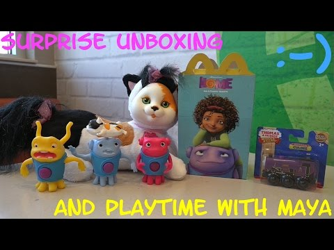 McDonald's Happy Meal: Dreamworks' HOME Alien Toys + Wooden Railway Culdee