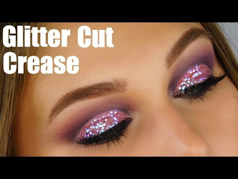 GLITTER CUT CREASE EYESHADOW TUTORIAL
