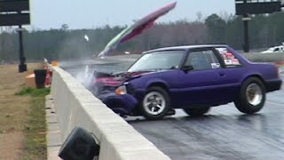 When MUSTANGS ATTACK! INSANE Drag Racing Crashes