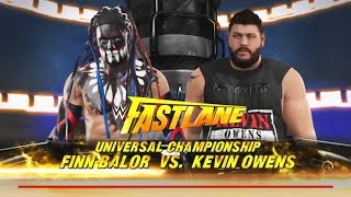WWE 2K17 -Finn Bálor  vs.Kevin Owens -For WWE Universal Championship -Fastlane 2017 (PS4)
