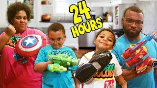 24 HOURS OVERNIGHT IN THE KITCHEN!!! Avengers Infinity Edition