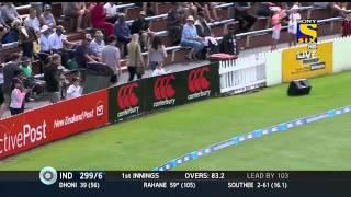 Ajinkya Rahane slams a Century Helps India to Dominate ~ India vs New Zealand 2nd test day 2