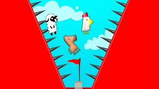 Only ONE Can Reach The FINISH! (Ultimate Chicken Horse)