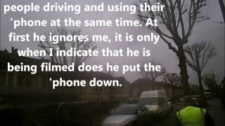 15 02 2011 Filton Avenue Sky driver using hand held mobile HD