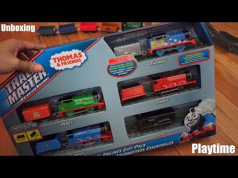 Thomas & Friends: Special Edition Racing Thomas Trackmaster Set Unboxing video