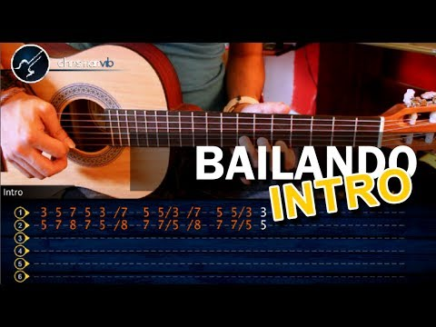 Como tocar Bailando -ENRIQUE IGLESIAS - INTRO Riff . en Guitarra Acustica (HD) Tutorial Punteo
