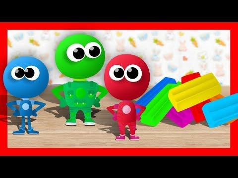 Разноцветный ПЛАСТИЛИН. Лепим пластилиновые Фиксики и Учим Цвета - Обучающее видео