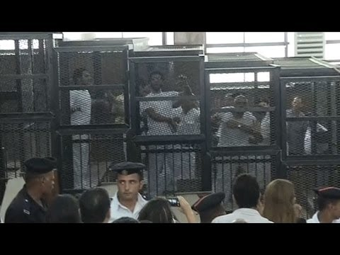 """""""Journalism in Egypt is a Crime"""": Global Outcry After 3 Al Jazeera Reporters Sentenced to 7-10 Years"""